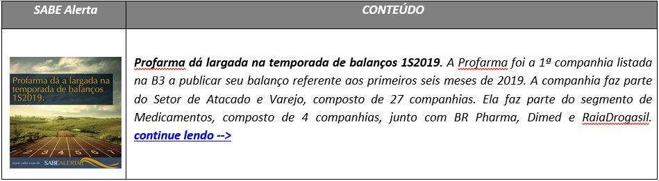 Profarma dá largada na temporada de balanços 1S2019