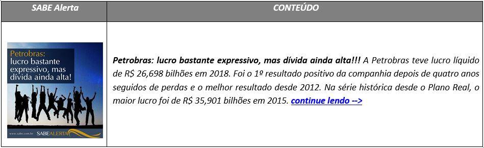 Petrobras: lucro bastante expressivo, mas dívida ainda alta!!!
