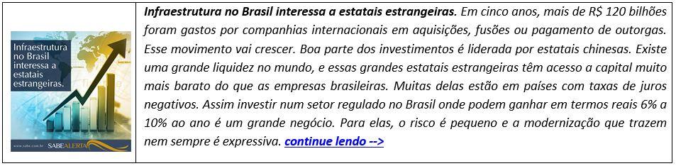Infraestrutura no Brasil interessa a estatais estrangeiras
