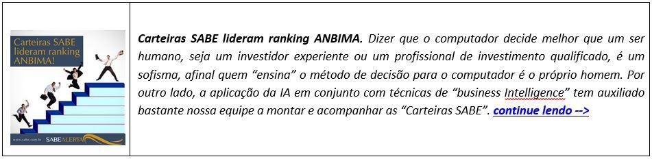 Carteiras SABE lideram ranking ANBIMA.