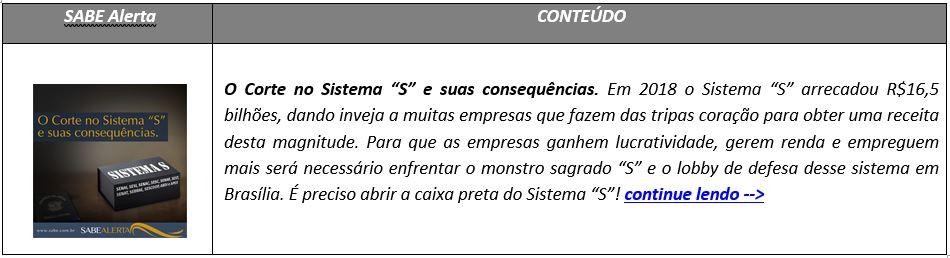 """O Corte no Sistema """"S"""" e suas consequências"""