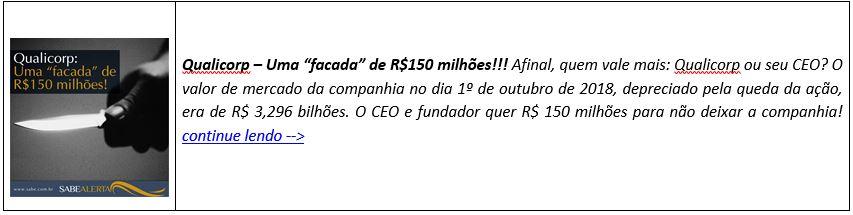 """Qualicorp – Uma """"facada"""" de R$150 milhões!!!"""